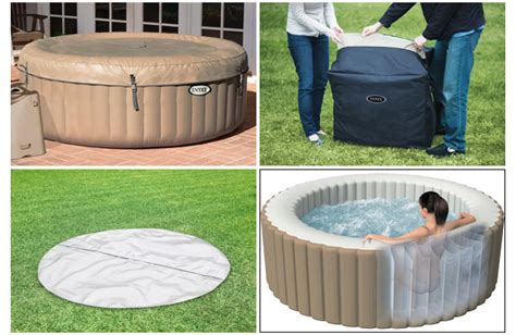spa gonflable intex purespa bulles  places rond