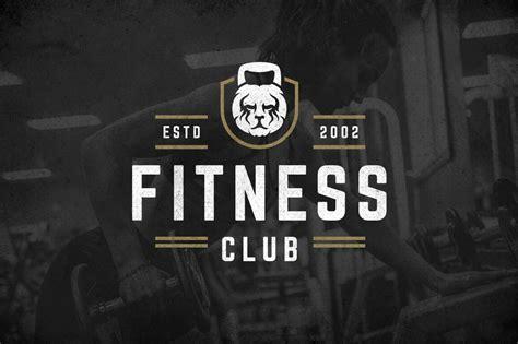 retro fitness gym logos set  logo templates  yellow