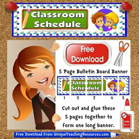 classroom schedule bulletin board display banner
