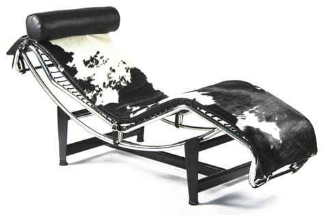 le corbusier lc4 chaise lounge pony hide modern indoor