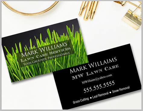 landscaping business card templates word psd