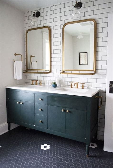 astoria mirror  tray transitional bathroom