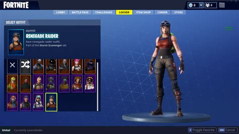 Renegade Raider Account +15 Other Skins Of Lego/legendary