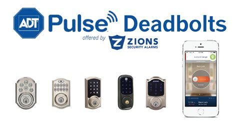 adt door lock adt pulse deadbolt options