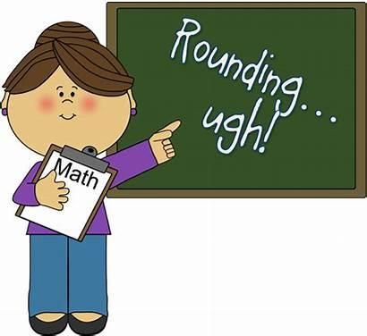 Clipart Math Teacher Rounding Student Classroom Teaching