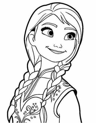 Frozen Mewarnai Elsa Gambar Colorear Anna Untuk
