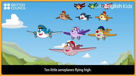 ten  aeroplanes nursery rhymes kids songs