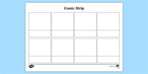Blank Comic Strips Template