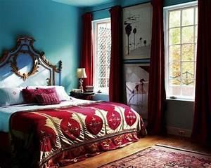 1001 idees pour une chambre bleu canard petrole et paon With tapis oriental avec grande couverture canapé