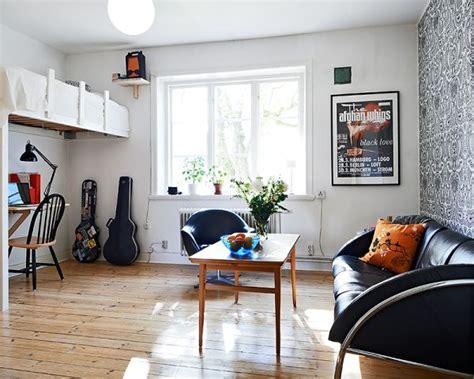 tiny studio apartment   cozy  airy interior