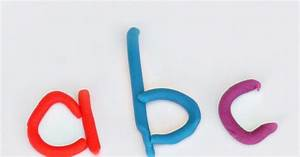letter formation with play dough still playing school With play letters