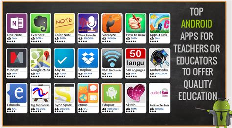 apps for android top android apps for teachers or educators to provide
