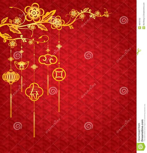 chinese  year background  golden decoration stock