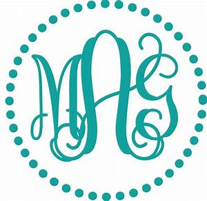 best 25 monogram fonts ideas on pinterest free monogram With circle monogram