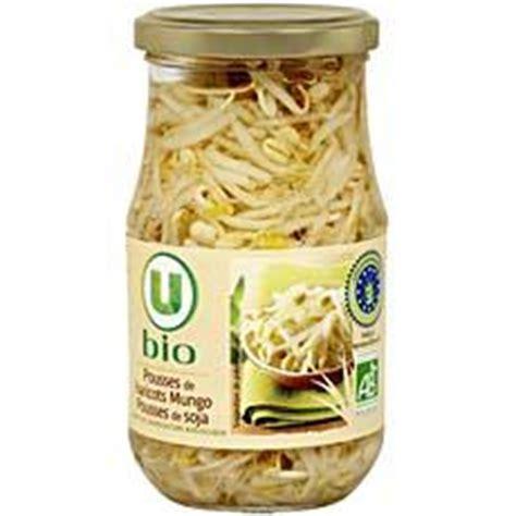 cuisiner les pousses de soja pousses de soja haricots mungo u bio 175g tous les