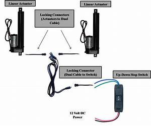 2pcs Windynation Linear Actuator 12 Volt 12v 225 Pounds