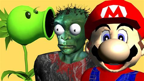 Mario Bros Vs Plants Vs Zombies ♫ 3d Animated Game Mashup
