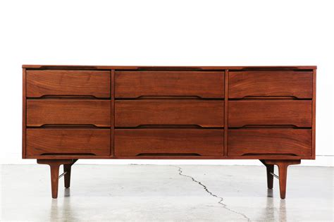 mid century modern furniture mid century modern walnut dresser by stanley furniture Vintage