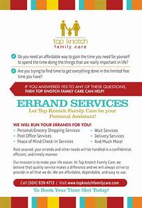 errand service flyers dtk templates With errand service invoice
