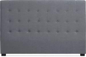 Tte De Lit Tissu Gris 180 Cm LUXURY Design Sur SoFactory