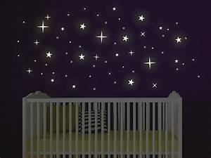 Wandtattoo leuchtende sterne leuchtfolie for Wandtattoo leuchtende sterne