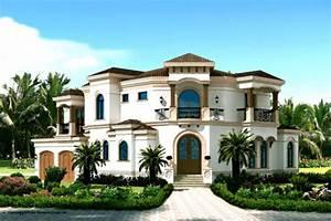 Mediterranean Style House Plan - 3 Beds 4 Baths 3337 Sq/Ft