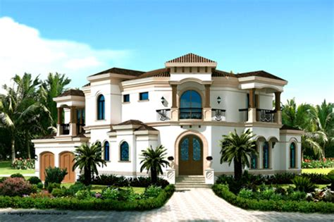 Mediterranean Style House Plan 3 Beds 4 Baths 3337 Sq/Ft