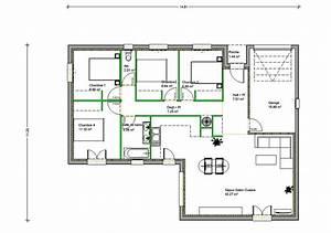 plan de maison en l de plain pied gratuit evtod With plan de maison en l gratuit