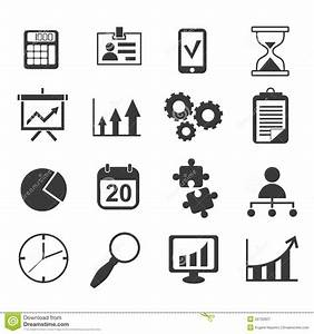 Business Analyst Marketing Icon Vector Set Stock Vector