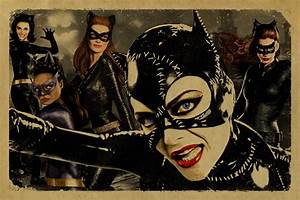 Catwoman poster. Catwomen. Michelle Pfeiffer Anne Hathaway