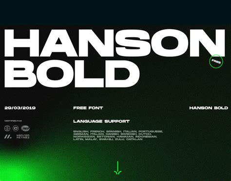 Hanson Bold Font - Befonts.com