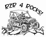 Coloring Rzr Polaris Pages sketch template