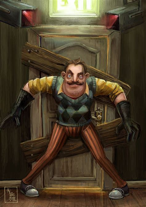 Hello Neighbor Do Not Enter By Ukalayla On Deviantart