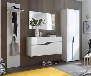 Garderobenschrank Weiß Hochglanz : garderobenschrank willa 65 cm weiss hochglanz mit 2 t ren m bel dielenm bel ~ Indierocktalk.com Haus und Dekorationen