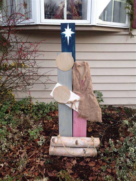 diy outdoor nativity scene  images rustic