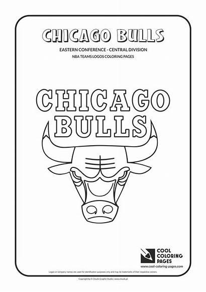 Coloring Nba Bulls Pages Chicago Teams Logos