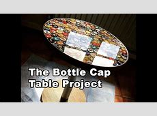 Beer Bottle Cap Table Tutorial Using Bottle Caps and Epoxy