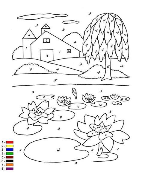 Kleurplaat Nummer Tekening by Kleur Op Nummer Boerderij Kleurplaat Jouwkleurplaten