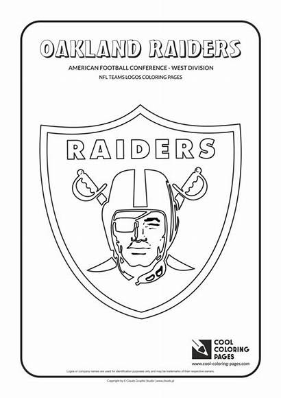 Coloring Nfl Raiders Pages Football Logos Oakland