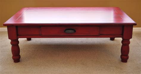 B's Refurnishings Red Coffee Table  Privately Sold