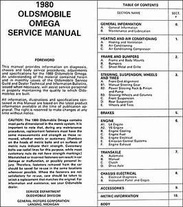 1980 Oldsmobile Omega Repair Shop Manual Original