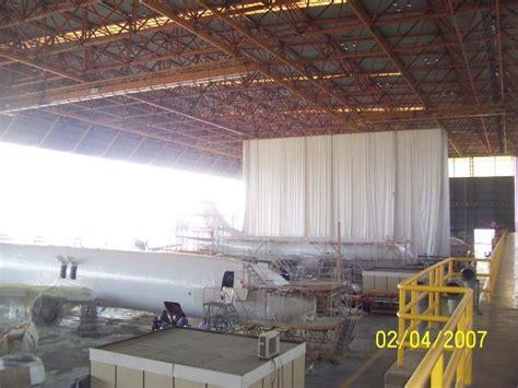 goffs enterprises curtains aircraft curtains partitions hangar curtains aero