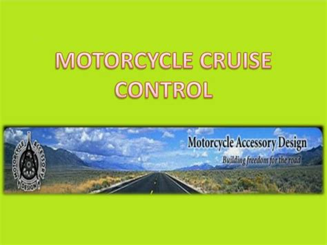 Motorcycle Cruise Control Powerpoint Presentation