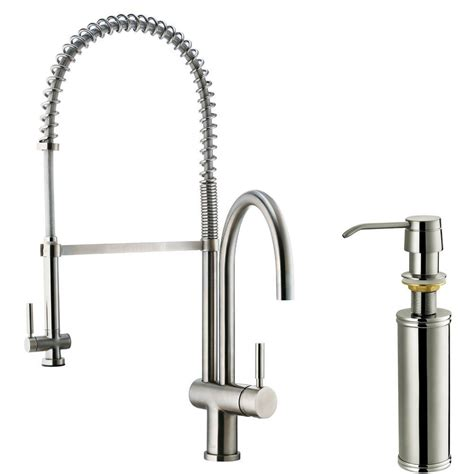 stainless steel kitchen faucet with pull spray vigo single handle pull sprayer kitchen faucet with