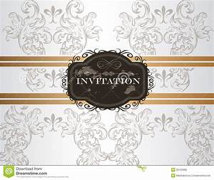 elegant wedding invitation card in vintage style stock With elegant wedding invitations eps