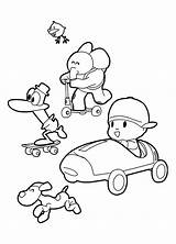 Pocoyo Coloring Pages Rush Gold California Friends Colouring Getcolorings Printable Sheets Getdrawings sketch template