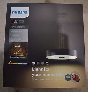 Philips Hue Fair : philips hue white ambiance fair 55 w connect ready led ceiling pendant light black new with ~ Watch28wear.com Haus und Dekorationen