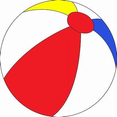 Ball Beach Clip Clipart Animated Balls Vector