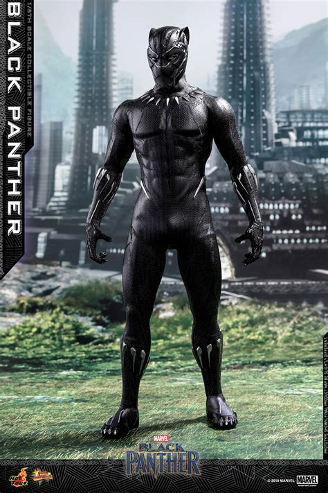 hot toys  scale black panther plastic  plush