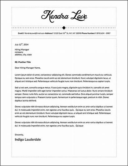 Letter Resume Word Template Microsoft